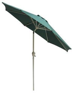 Fiberbuilt Umbrellas Garden Umbrella With Push On Tilt 7 5 Foot Navy Canopy And Bright Aluminum Pole