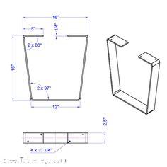 Metal Bench Leg / Metal Coffee Table Leg by IndustrialTableLegs Iron Furniture, Steel Furniture, Furniture Legs, Industrial Furniture, Furniture Design, Industrial Metal, Plywood Furniture, Chair Design, Steel Table Legs