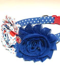 Fourth of July Dog Collar Patriotic Dog Collar by Puptique