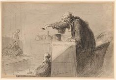 Honoré Daumier | L'Accusation | Drawings Online | The Morgan Library & Museum