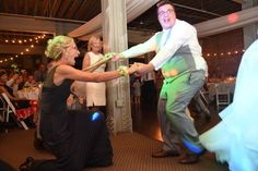 Dance, dance, dance.  Groom surprising his new Mom #longworthhallweddings Photo: Cathy A. Lyons