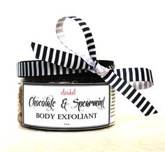 Chocolate & Spearment Body Exfoliant  Free Shipping in the US #bodyscrub #chocolatebodyscrub