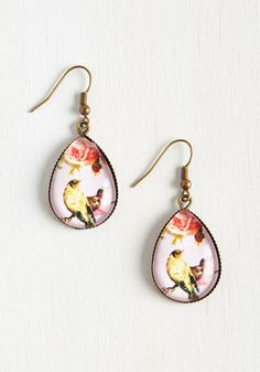 Be it a brunch date, a night at the movies, or a big presentation, you rely on these drop-shaped earrings for an added element of confidence. Though, any event is a great excuse to flaunt the pastel purple backdrops and painterly birds of this dangly duo!