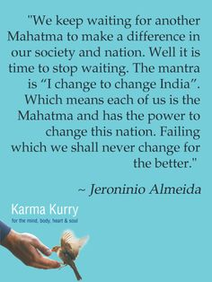 Jeroninio Almeida, Karma Kurry for the Mind, Body, Heart & Soul