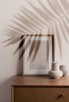 Modern abstract one line poster