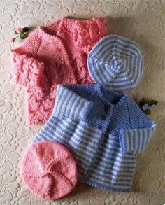 "baby coats knitting pattern pdf premature baby cardigans beret matinee coat jacket 14-20"" DK 4ply light worsted 8ply fingering download pdf by Minihobo on Etsy"
