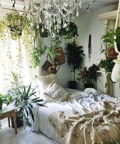 кровать, спальня, люстры, декор, домашний
