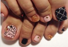 Nails, pink, uñas, decoracion de pies