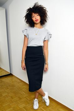 ca477b93335df 168 meilleures images du tableau Jupe crayon   Pencil skirts, Ladies ...