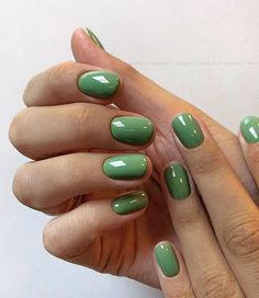 Simple green gel manicure - Lilly is Love Shellac Nails, Nail Polish, Gel Manicure, Funky Nails, Fire Nails, Minimalist Nails, Nagel Gel, Dream Nails, Cute Acrylic Nails