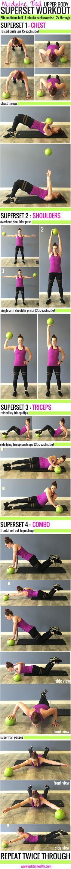 Medicine Ball Upper Body Superset Workout