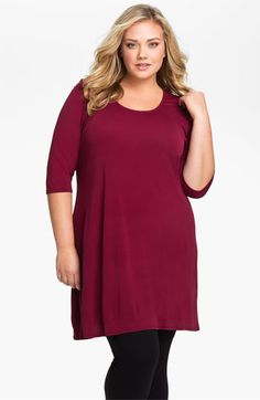 Eileen Fisher Silk Tunic (Plus) available at #Nordstrom