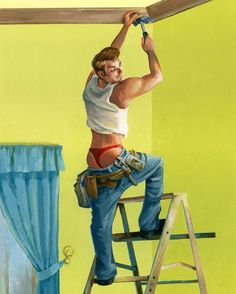 12 Spectacular Illustrations Of Men In Classic Pin-Up Poses