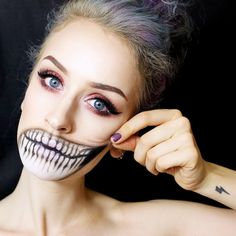 8+Terrifyingly+Beautiful+Halloween+Looks+You+Have+to+See+to+Believe+via+@ByrdieBeauty