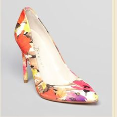 Ivana Trump Floral Pumps