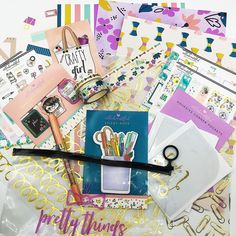 "Trendy stickers, monthly themed planner kits to ""beautiffy your planner"" Washi Tape Planner, Let's Create, Sticky Notes, Adhesive, Stationery, Kit, Stickers, Daily Planners, Paper Mill"