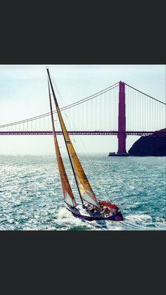 Sail Away, Golden Gate Bridge, Sailing, Boat, Places, Travel, Image, Dinghy, Boats