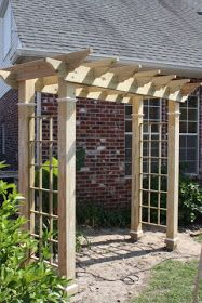 The pergola you choose will probably set the tone for your outdoor living space, so you will want to choose a pergola that matches your personal style as closely as possible. The style and design of your PerGola are based on personal Diy Pergola, Small Garden Pergola, Patio Diy, Building A Pergola, Garden Arbor, Pergola Swing, Metal Pergola, Pergola With Roof, Wooden Pergola