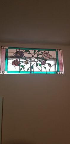 This was for my daughter Heather. pink green are the colors, of course I had to add purple!! Pink And Green, Purple, Stained Glass Panels, Stained Glass Projects, To My Daughter, Green Colors, Frame, Home Decor, Stained Glass Windows