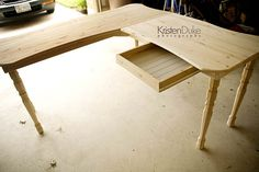DIY desk under $50. www.Capturing-Joy.com