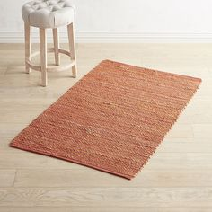 Chindi Jute Spice 3x5 Rug Red
