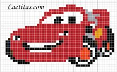 Need to make something with macqueen for ny son Crochet Quilt Pattern, Crochet Snowflake Pattern, Crochet Squares, Cross Stitch Pattern Maker, Cross Stitch Patterns, Canvas Patterns, Quilt Patterns, Pixel Art Templates, Beaded Banners