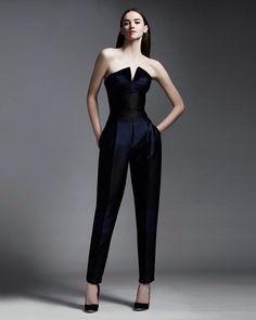 Maskülen Siyah Straplez Tulum Elbise