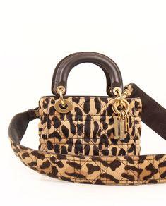 Brown Crossbody Purse, Crossbody Shoulder Bag, Shoulder Handbags, Christian Dior Purses, Lady Dior Mini, Dior Handbags, Brown Handbags, Pony Style, Leopard Bag
