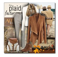 """""""The Plaid Factor"""" by sheryl-lee ❤ liked on Polyvore featuring Sara's Signs, Miu Miu, Carolina Herrera, Chicwish, See by Chloé, Sophie Buhai, Gucci and Tory Burch"""