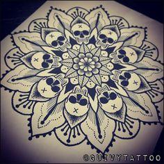 Guivy Tattoo - GENEVA skull tattoo tatouage drawing dessin sketch dotwork design custom art for sinners geneve geneva gva swisstattoo switzerland swiss made tatoueur annecy lausanne tatoo tattooer black dark mandalas Mandala Skull, Dotwork Tattoo Mandala, Mandala Sleeve, Mandala Tattoo Design, Tattoo Designs, Tattoo Ideas, Sternum Tattoo, Mandala Drawing, Henna Designs