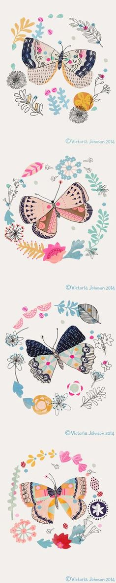 Don't particularly like this style but the butterfly with a garland around is a design I like.: