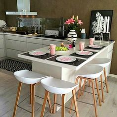 Cheer Up Your Breakfast Time with 6 New Kitchen Counter Stools – Bar Stools Furniture Home Decor Kitchen, Kitchen Living, Kitchen Interior, New Kitchen, Home Kitchens, Kitchen Ideas, Modern Kitchens, Rustic Kitchen, Kitchen Furniture
