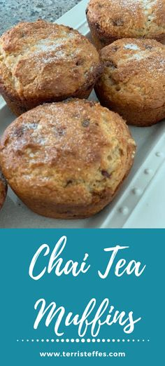 Delicious muffins with a chai flavoring. #chai #muffins #cakemixmuffins #chaitea