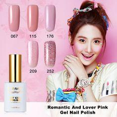 MRO 15ml Romantic Sweet Lover Gel Nail Polish UV LED Girls Pink Nude Series Soak-Off gel varnishes Sweet Colours
