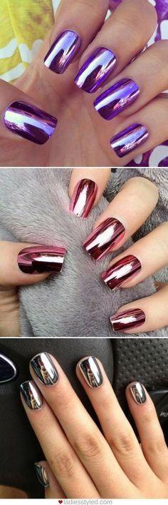42 wonderful nail art ideas all girls should try .- 42 wonderful nail art ideas that all girls should try # - Gel Nail Art, Nail Art Diy, Diy Nails, Summer Shellac Nails, Hallographic Nails, Nails 2016, Manicures, Crome Nails, Diy Beauty Nails
