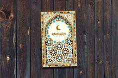 Ramadan Mubarak greeting card. Card Design Templates