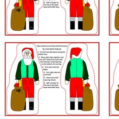 Yikes! Santa Cut and Sew Doll by lworiginals on Spoonflower - custom fabric