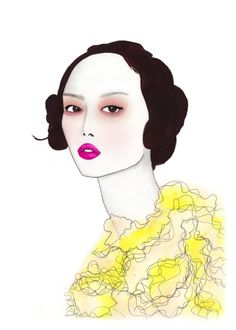 Yellow - Fashion Illustration