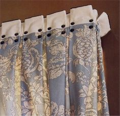 Fabulous Window Treatments: September 2008 Box pleats with studded panel (Phillip Sides)