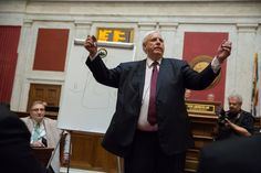 Jim Justice, a billionaire businessman who counts President Trump as a friend, is facing off with Republicans while keeping his party's tarnished national brand at a distance.