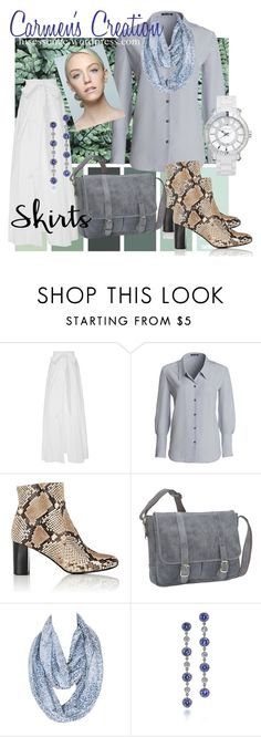 """White Skirt Breezy Outfit"" by carmen-ireland ❤ liked on Polyvore featuring Kalita, NIC+ZOE, Barneys New York, David King & Co., Tiffany & Co. and Vince Camuto"