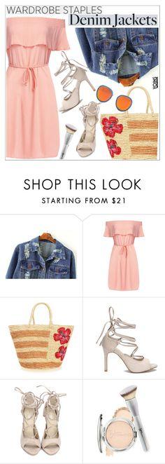 """Wardrobe Staple: Denim Jackets"" by teoecar ❤ liked on Polyvore featuring Sensi Studio, It Cosmetics, denimjackets and WardrobeStaples"