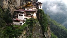 Tiger's Nest Monastery, Paro Valley, Bhutan -- This 17th century temple sits on the edge of a cliff 3,000 feet above the Paro valley. The holy site was built to protect the cave in which Guru Padmasambhava, a leader of Buddhism, meditated for three years, three months, three weeks, three days and three hours.
