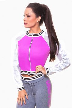 Hipkini Violet Unstoppable Jacket   Bomber jacket   Athleisure   Gym clothes   Workout clothes   Brazilian Fitness   Body By Brazil Hooded Jacket, Bomber Jacket, Gym Clothes Women, Purple Jacket, Womens Workout Outfits, Lifestyle Clothing, Workout Wear, Fit Women, Fitness Wear