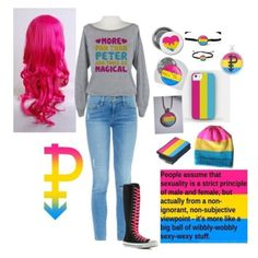 """""""Pansexual pride 2"""" by dporzio ❤ liked on Polyvore"""