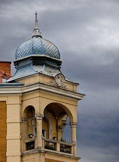This photo from Vas, West is titled 'Szombathely-the Balcony'. Vintage Architecture, Vatican City, European Countries, Bosnia And Herzegovina, Macedonia, Albania, Montenegro, Slovenia, Czech Republic