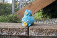 Patrón gratis amigurumi de muñeco tsum tsum del ornitorrinco más famoso
