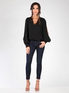 Ženska Majica CARLA BY ROZARANCIO #women_fashion #blouse #long_sleeve #black_fashion #