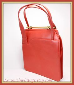 Vintage Leather Handbag by Coret Acc. Bags