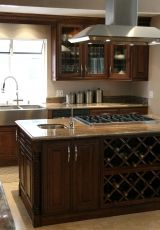 Chocolate Maple Glazed (M01), Dealer: Telstar Cabinets, 378 E Main St, Denville, NJ 07834 Brand: J&K Cabinetry works with Pappachen Interiors home styling